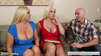 Busty Alura Jenson fuck in threesome