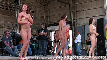 gorgeous biker chicks getting fully nude in iowa wet tshirt contest 25 min