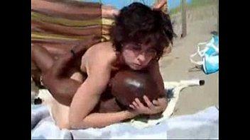 My slut wife fucked by stranger black bull at nude beach 6 min