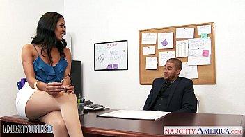 Busty brunette Abby Lee Brazil fuck in office 8 min