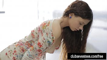 Sexy brunette teen masturbating 8 min