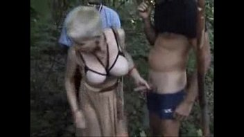 My horny bitch used by strangers outdoor. Public nudity 8 min