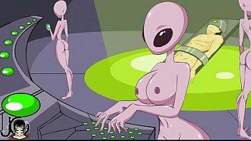 Busty alien porn - blowjob handjob and cumshot 2 min