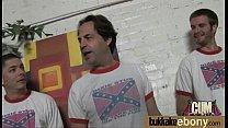 Interracial bukkake sex with black porn star 4