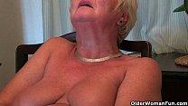British and curvy grandma Sandie collection 15 min