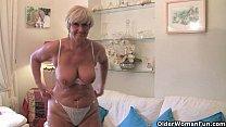 British and voluptuous granny Samantha collection 15 min