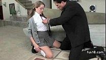 School Girl In Uniform Takes Huge Cocks At Once