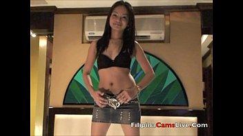 Asian Filipina GOGO bar girl asiancamslive.com strips live in Manila Hotel 4 min