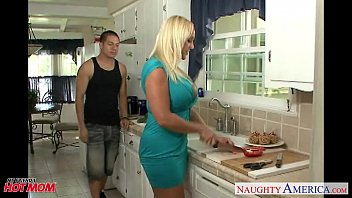 Chesty blonde mom Alexis Golden take cock