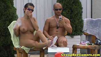 Hungarian babe playing party game before bj
