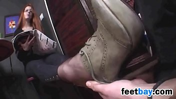 Smelling And Sucking Her Stinky Feet 2 min