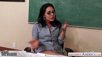 Busty teachers Gracie Glam, Kendra Lust sharing student 9 min