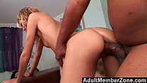 Small Blonde Mary Jane Takes on Shorty's Supersized Cock