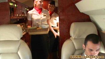Femdom CFNM stewardesses fuck rude passenger 8 min