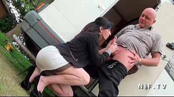 Pretty Amateur french milf with small tits hard anal pounded