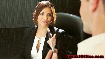 Office secretary Isabella De Santos jizzed on 10 min