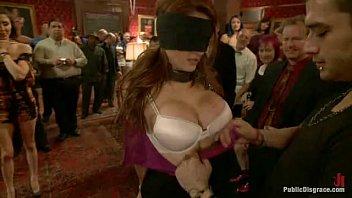 Beautiful Amateur Kenzie Vaughn Bound, Blindfolded, Ass Fucked, Dp'ed