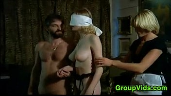 Blindfolded Blonde Pleasured In An Orgy 7 min