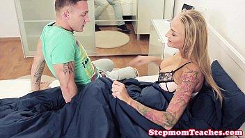 Tattooed stepmom with bigtits pussyfucked 10 min