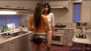 Japanese lesbian housewives licking pussy 8 min
