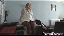 Kinky Granny Teasing Her Mature Pussy 5 min