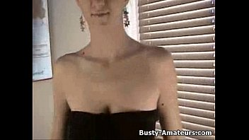 Busty Jacklynn masturbates after hot interview