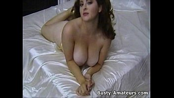 Busty Jonee playing her bigtits and hairy pussy
