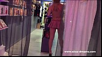 Hidden camera: Showing off naked in a store