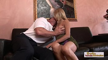 Leggy blonde Payton Leigh's MILF creampie fuck 19 min