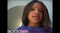 Sweet ebony Tiana has fun with big dongs