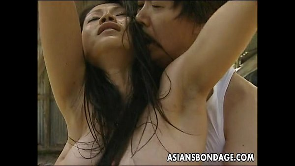 Asian bitch roped up so the man can fuck her 8 min
