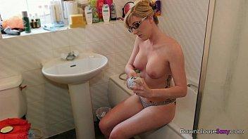 Jodie Ellen - Get Moisturized - 1min preview horny blonde rubs oil into her bigt 60 sec