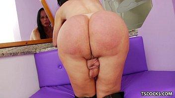 TS Paula D'Avila playing with her cock 5 min