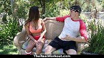 TheRealWorkout - Big Tittied Gymnast (Ashley Adams) Fucks Her Coach