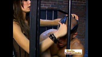 Stunning Mistress Vanessa Dominates A Slave In Jail