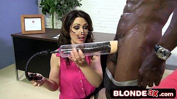 Business Woman Sarah Shevon Sucking Big Black Cock