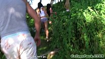 College teens in group cocksucking pov