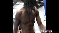 Stroking that black uncut dick and fuck anal