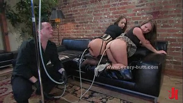 Slave in cage prepared for anal session of b. ass fuck in ass penetration