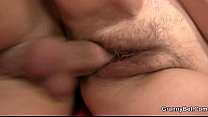 He pounding her shaggy old hole