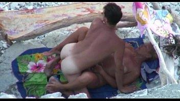 Blonde Milf sucks her Hubby's Cock on a beach in Hidden Cam on SpyAmateur.com