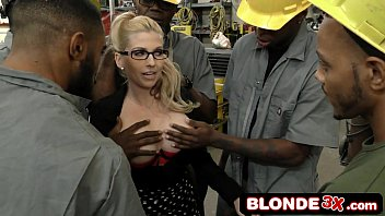 Horny Big Tit Boss Christie Stevens Sucks Many Big Black Cocks