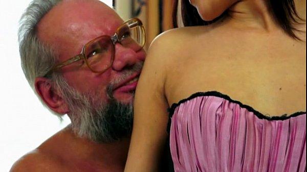Old man enjoy's Lyen's crotchless panties 25 min