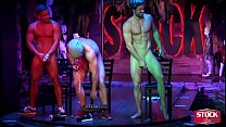 PRESENTS THE JERK OFF CONTEST WITH 3 OF OUR DANCERS COMPETING.