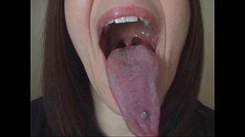 Long Tongue Lesbian Kiss