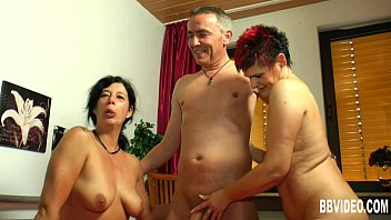 Tattooed german whores sharing cock