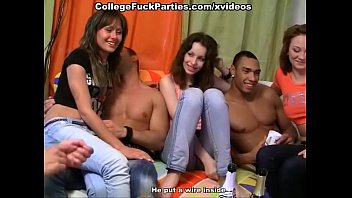 Coeds film their orgy at party 6 min