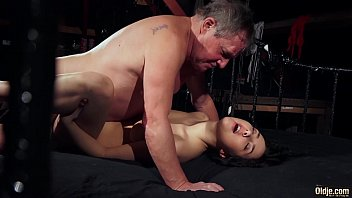 Old man is spoiling his dick with fresh young wet puss 6 min