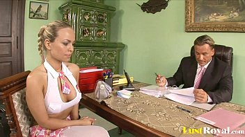 Attractive Mia Leone gets tricked by her boss 16 min