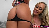 MILF Brandi gets her juicy pussy fingered by babe Cali